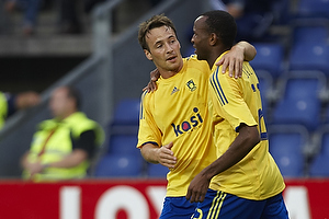 Ousman Jallow, m�lscorer (Br�ndby IF), Mike Jensen (Br�ndby IF)