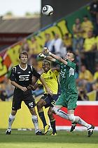 Lucas Hradecky (Esbjerg fB), Ousman Jallow (Br�ndby IF), Fredrik Risp (Esbjerg fB)