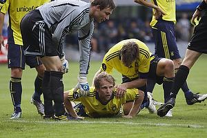 Remco van der Schaaf (Br�ndby IF), Max von Schlebr�gge, anf�rer (Br�ndby IF), Stephan Andersen (Br�ndby IF)