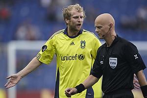 Remco van der Schaaf (Br�ndby IF), Anders Hermansen, dommer