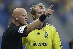 Anders Hermansen, dommer, Remco van der Schaaf (Br�ndby IF)