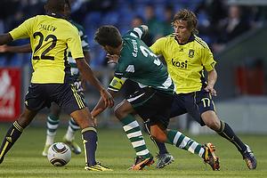 Jan Kristiansen (Br�ndby IF), Daniel Carrico (Sporting Lissabon)