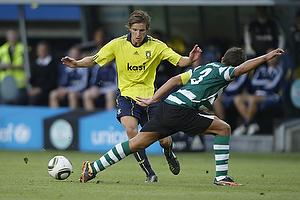 Jens Larsen (Br�ndby IF), Daniel Carrico (Sporting Lissabon)