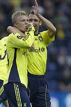 Daniel Wass, m�lscorer (Br�ndby IF), Thomas Rasmussen (Br�ndby IF)