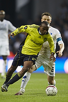 Ousman Jallow (Br�ndby IF), William Kvist, anf�rer (FC K�benhavn)