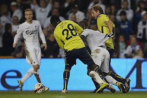 Remco van der Schaaf (Br�ndby IF), Dame N´Doye (FC K�benhavn), Paul Jatta (Br�ndby IF)