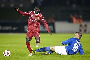 Enock Kofi Adu (FC Nordsj�lland), Kim Aabech (Lyngby BK)