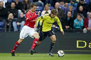 Jens Larsen (Br�ndby IF), Dennis Flinta (Silkeborg IF)