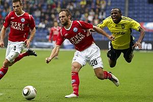 Ousman Jallow (Br�ndby IF), Thorbj�rn Holst Rasmussen (Silkeborg IF)