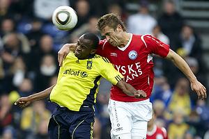 Ousman Jallow (Br�ndby IF), Jim Larsen (Silkeborg IF)