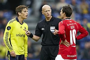 Jens Larsen (Br�ndby IF), Jesper Bech (Silkeborg IF), Anders Hermansen, dommer