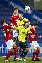 Max von Schlebr�gge, anf�rer (Br�ndby IF), Remco van der Schaaf (Br�ndby IF), Thomas Hansen (Silkeborg IF)