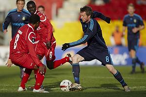 Mikael Nilsson (Br�ndby IF), Patrice Bernier (FC Nordsj�lland)