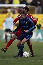 Jens Larsen (Br�ndby IF), Michael Parkhurst (FC Nordsj�lland)