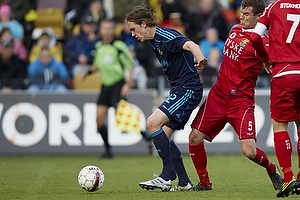 Brent McGrath (Br�ndby IF), Andreas Bjelland (FC Nordsj�lland)