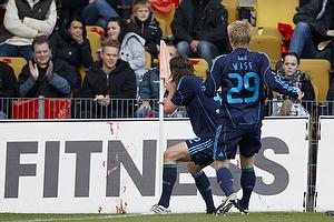 Brent McGrath, m�lscorer (Br�ndby IF), Daniel Wass (Br�ndby IF), Alexander Farnerud (Br�ndby IF)