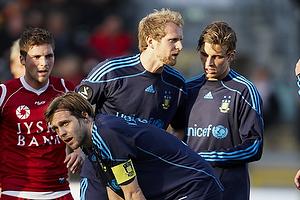 Max von Schlebr�gge (Br�ndby IF), Remco van der Schaaf (Br�ndby IF), Jens Larsen (Br�ndby IF)