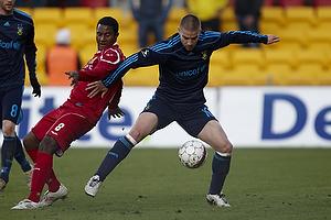Martin Bernburg (Br�ndby IF), Patrice Bernier (FC Nordsj�lland)