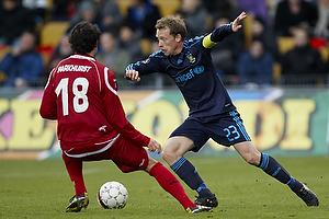 Michael Krohn-Dehli (Br�ndby IF), Michael Parkhurst (FC Nordsj�lland)