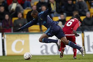 Ousman Jallow (Br�ndby IF), Enock Kofi Adu (FC Nordsj�lland)