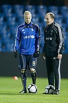 Alexander Farnerud (Br�ndby IF), Kim Daugaard, assistenttr�ner (Br�ndby IF)