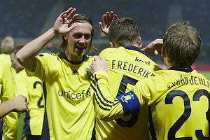 Jan Frederiksen, m�lscorer (Br�ndby IF), Brent McGrath (Br�ndby IF), Michael Krohn-Dehli (Br�ndby IF)