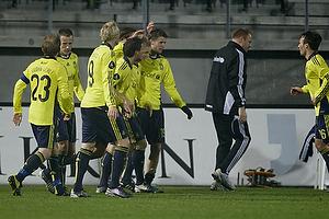 Michael Krohn-Dehli (Br�ndby IF), Jan Frederiksen (Br�ndby IF), Alexander Farnerud (Br�ndby IF), Jan Kristiansen (Br�ndby IF), Daniel Wass (Br�ndby IF), Daniel Stenderup (Br�ndby IF)