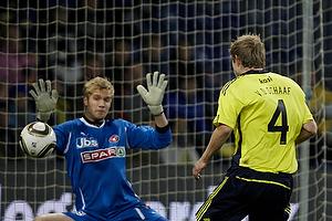 Remco van der Schaaf (Br�ndby IF), Jonas L�ssl (FC Midtjylland)