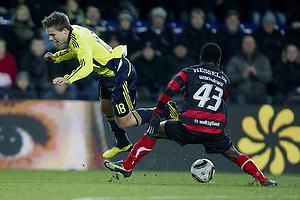 Nicolaj Agger (Br�ndby IF), Izunna Uzochukwu (FC Midtjylland)