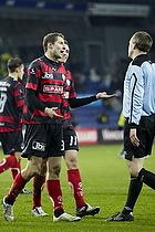 Brian Priske (FC Midtjylland), Danny Olsen (FC Midtjylland), Peter Rasmussen, dommer