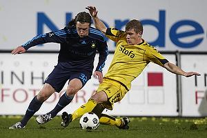Brent McGrath (Br�ndby IF), Morten Rasmussen (AC Horsens)