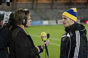 Mike Jensen (Br�ndby IF) med hue