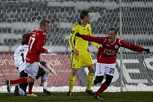 Frank Hansen, m�lscorer (Silkeborg IF), Kaimar Saag (Silkeborg IF)