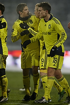 Alexander Farnerud, m�lscorer (Br�ndby IF), Jens Larsen (Br�ndby IF), Nicolaj Agger (Br�ndby IF)