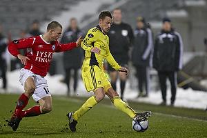 Jan Frederiksen (Br�ndby IF), Dennis Flinta (Silkeborg IF)