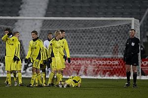 Jens Larsen (Br�ndby IF), Alexander Farnerud (Br�ndby IF), Max von Schlebr�gge, anf�rer (Br�ndby IF), Mikael Nilsson (Br�ndby IF), Daniel Wass (Br�ndby IF), Michael Svendsen, dommer