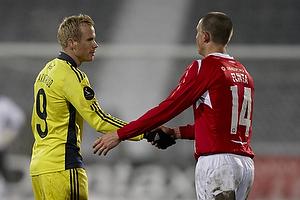 Alexander Farnerud (Br�ndby IF), Dennis Flinta (Silkeborg IF)