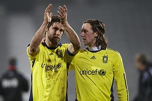 Max von Schlebr�gge, anf�rer (Br�ndby IF), Brent McGrath (Br�ndby IF)