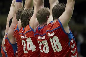 AG K�benhavn-spillerne danner mur