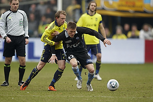 Michael Krohn-Dehli, anf�rer (Br�ndby IF), S�ren Frederiksen (S�nderjyskE)