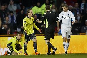 Michael Krohn-Dehli (Br�ndby IF), Mikael Antonsson (FC K�benhavn), Peter Rasmussen, dommer