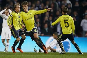Nicolaj Agger, m�lscorer (Br�ndby IF), Jan Frederiksen (Br�ndby IF), Michael Krohn-Dehli (Br�ndby IF)