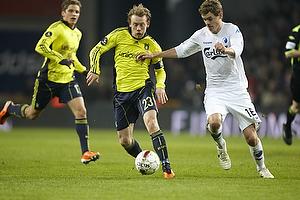 Michael Krohn-Dehli, anf�rer (Br�ndby IF), Thomas Kristensen (FC K�benhavn)