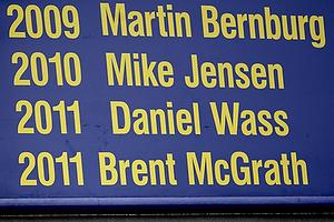 Brent McGrath (Br�ndby IF) p� landskampsv�ggen