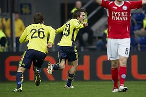 Mathias Gehrt , m�lscorer (Br�ndby IF), Mike Jensen (Br�ndby IF), Martin �rnskov (Silkeborg IF)