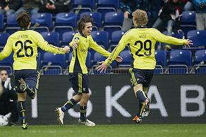 Mathias Gehrt , m�lscorer (Br�ndby IF), Daniel Wass (Br�ndby IF), Mike Jensen (Br�ndby IF)
