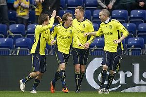 Mathias Gehrt , m�lscorer (Br�ndby IF), Michael Krohn-Dehli (Br�ndby IF), Jan Frederiksen (Br�ndby IF), Mikael Nilsson (Br�ndby IF)