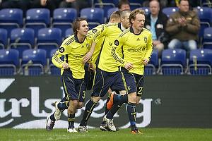 Mathias Gehrt , m�lscorer (Br�ndby IF), Michael Krohn-Dehli (Br�ndby IF), Mikael Nilsson (Br�ndby IF)