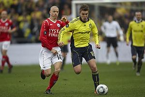 Nicolaj Agger (Br�ndby IF), Dennis Flinta (Silkeborg IF)
