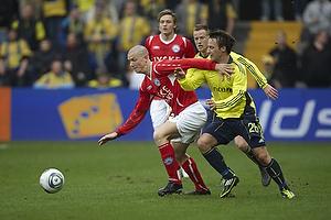 Dennis Flinta (Silkeborg IF), Mike Jensen (Br�ndby IF)